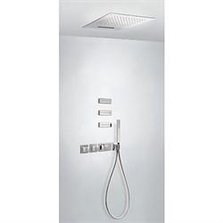 Душевая система скрытого монтажа с термостатом TRES block system 20725402 хром - фото 102056