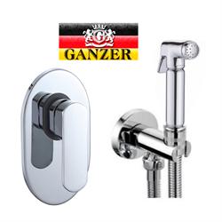 Гигиенический душ скрытого монтажа GANZER LEON GZ 5101 хром - фото 114152