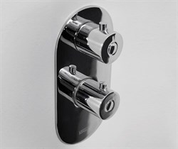 Душевая система скрытого монтажа с термостатом WasserKraft A04833-3 верх 200 мм хром - фото 166219