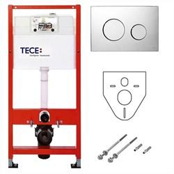 Комплект TECEbase для установки подвесного унитаза с панелью смыва TECEloop хром глянцевый, K400626 - фото 189923