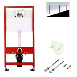 Комплект TECEbase для установки подвесного унитаза с панелью смыва ТЕСЕnow хром глянцевый, 9400012 - фото 189927