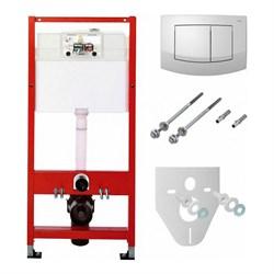 Комплект TECEbase для установки подвесного унитаза с панелью смыва ТЕСЕambia белая, K400200 - фото 189947