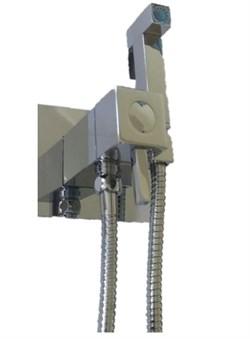 Гигиенический душ скрытого монтажа с термостатом Ganzer Termo GZ72501 хром - фото 202379