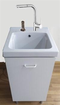 Комплект для постирочной AliceCeramica Laundry 300313 на 46 см со смесителем и дозатором - фото 205608