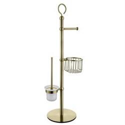 4615 Напольный держатель для туалетной бумаги и ершика KAISER бронза (нерж) - фото 205934