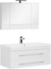 Комплект мебели для ванной Aquanet Нота NEW 100 белый (камерино) - фото 209691