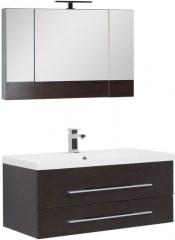 Комплект мебели для ванной Aquanet Нота NEW 100 венге (камерино) - фото 209692