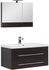 Комплект мебели для ванной Aquanet Нота NEW 90 венге (камерино) - фото 209696