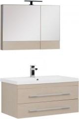 Комплект мебели для ванной Aquanet Нота NEW 90 светлый дуб (камерино) - фото 209697