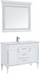 Комплект мебели для ванной Aquanet Селена 120 белый/серебро - фото 209700