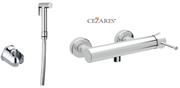 Гигиенический душ с настенным смесителем CEZARES POSITANO-DM-01-IFS-01 хром