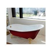 Ванна чугунная Ванна Magliezza Gracia Red 170x76 (ножки белые)