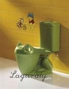 Унитаз-компакт детский Laguraty Агуша ok 0777 зеленый с крышкой микролифт