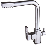 Смесители для кухни с подключением под фильтр GANZER REIN GZ 16032 хром