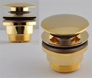 Донный клапан с переливом Remer RR905CCR DO зол. click-clack с переливом