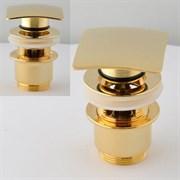 Донный клапан с переливом Remer RR905SCC2 DO зол. click-clack с переливом