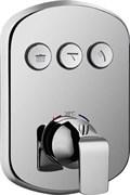Термостатический смеситель для ванны и душа скрытого монтажа CEZARES GLOBO-F-VDIM3-TB-01 хром