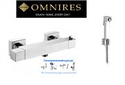 Гигиенический душ с термостатом Omnires FRESH FR7146332 хром