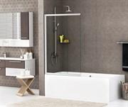 Шторка на ванну раздвижная, распашная, двухстворчатая WasserKraft Main 41S02-100 1000х1400 мм