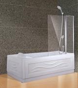 Шторка на ванну распашная, двухстворчатая ESBANO-1412 120х140