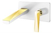 Смеситель для раковины скрытого монтажа Boheme VENTURO 385-W белый/золото
