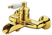 Каскадный смеситель для ванны Boheme Vogue 213 золото