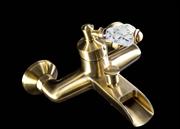 Каскадный смеситель для ванны Boheme Vogue Cristal  203-CRST бронза