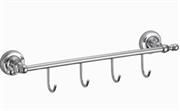 Кронштейн настенный, 4 крючка Ganzer GZ 31074