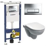 Комплект инсталляция и безободковый унитаз подвесной GEBERIT Duofix IFO 458.125.21.1-0222