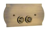 Кнопка для инсталляции Boheme BRONZE 651 бронза