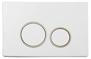 Кнопка для инсталляции Boheme WHITE GOLD 660 белый/золото