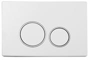 Кнопка для инсталляции Boheme WHITE CHROMO 661 белый/хром