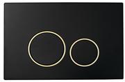 Кнопка для инсталляции Boheme  BLACK GOLD 663 черный/золото