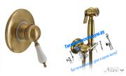 Гигиенический душ со встраиваемым смесителем NICE FUNNY N-6000-4BB бронза