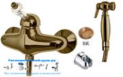 Гигиенический душ с настенным смесителем CEZARES VINTAGE-DM-02-Sw
