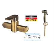 Гигиенический душ с настенным смесителем GANZER BOLDER GZ 06052,2014BR