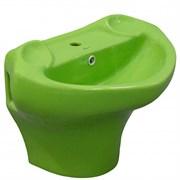 Детская подвесная раковина Laguraty Агуша ok0776 зеленый