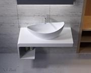 Раковина накладная NS Bath NST-6733G на 68 см белая глянцевая