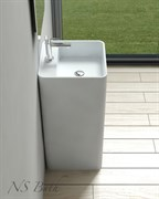 Раковина напольная NS Bath NSF-4242M на 42 см белая матовая