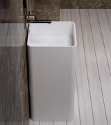 Раковина напольная NS Bath NSF-4086M на 40 см белая матовая
