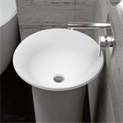 Раковина напольная NS Bath NSF-48481M  на 48 см белая матовая
