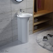 Раковина напольная NS Bath NSF-50440G на 50 см белая глянцевая