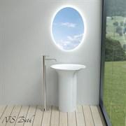 Раковина напольная NS Bath NSF-66411G на 66 см белая глянцевая