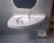 Раковина подвесная NS Bath NSS-1153M на 118 см белая матовая