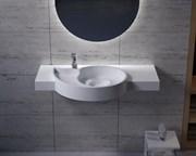 Раковина столешница NS Bath NSS-1051M на 100 см белая матовая