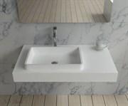 Раковина столешница NS Bath NSS-9050G на 90 см белая глянцевая
