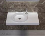 Раковина столешница NS Bath NSS-9051G на 90 см белая глянцевая