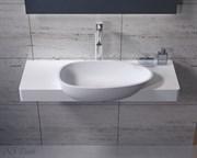 Раковина столешница NS Bath NSS-1050M на 100 см белая матовая
