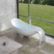 Ванна из искусственного камня NS Bath NSB-20850M 205x85 белая матовая