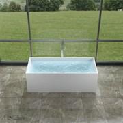 Ванна из искусственного камня NS Bath NSB-17730M 170x73 белая матовая